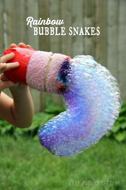 Rainbow-Bubble-Snakes-outdoor-fun