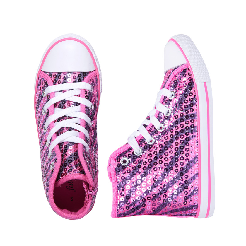 FabKids Sequin High Top Sneaker