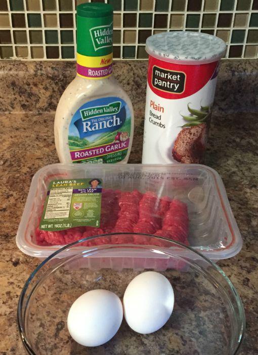 Hidden Valley Ranch Roasted Garlic Meatballs