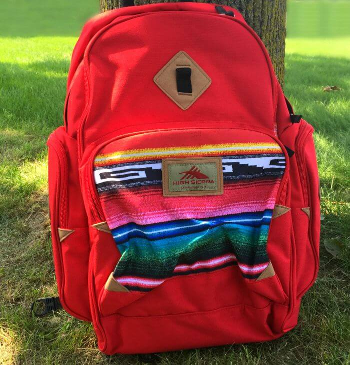 High Sierra Warren backpack Crimson Serape Black