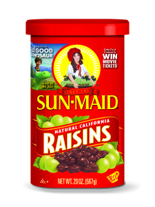 REQUIRED IMAGE - Sun-Maid Raisins Package - With The Good Dinosaur Promotion