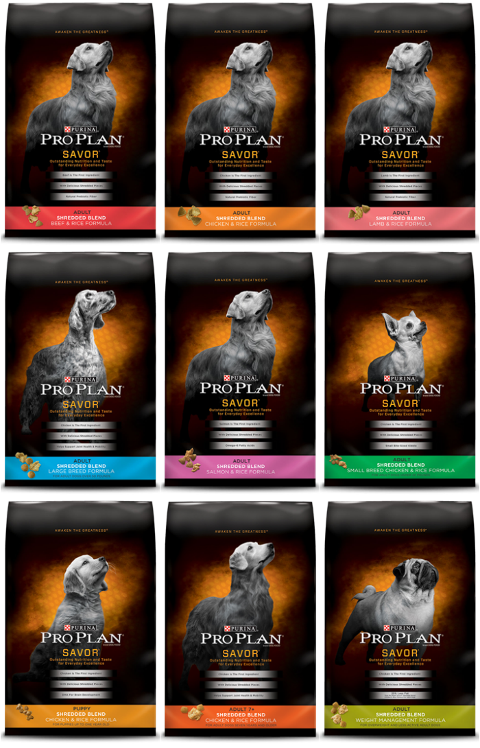 Purina Pro Plan Savor Shredded Blend options #SavorShreddedBlend i #ProPlanDog #PetSmart