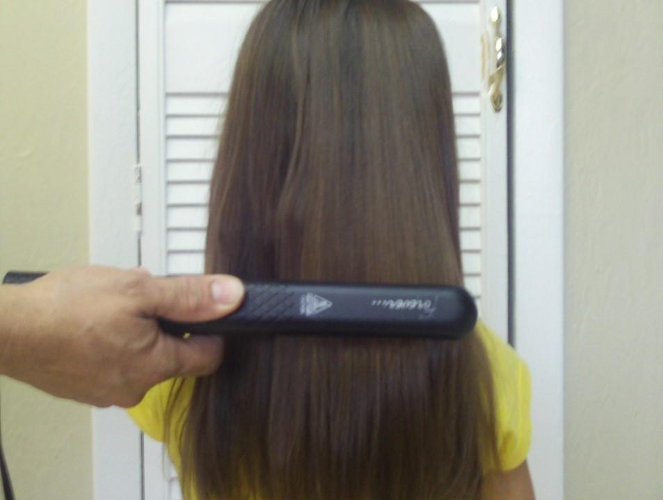 flat iron hair