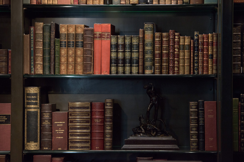 Antique and rare Books Shelf