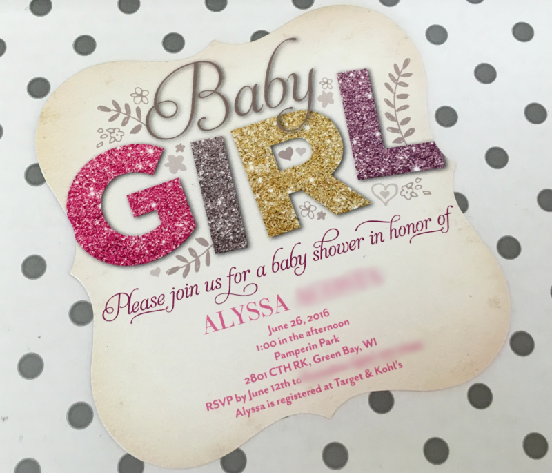 Tiny Prints ALL THINGS GLITTER HEATHERBABY SHOWER INVITATIONS