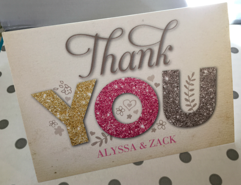 Tiny Prints ALL THINGS GLITTER HEATHERFOLDED THANK YOU CARDS