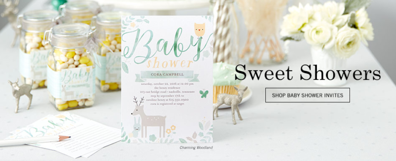 tiny prints baby shower invitation banner ad