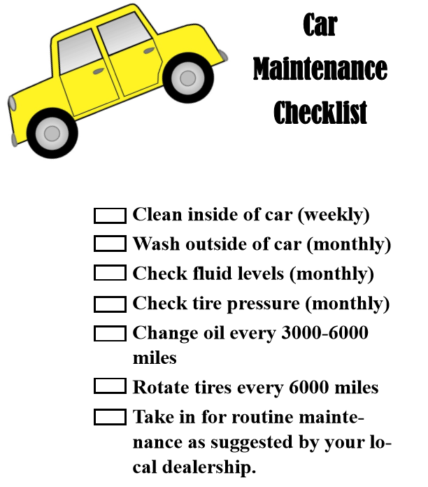 Keep Your Cars Running with Regular Maintenance + Printable ...