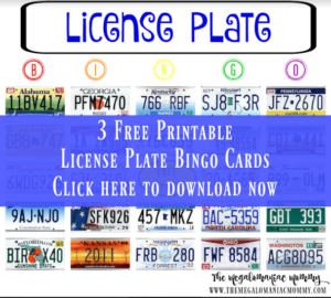 Fun Things for Kids to Do While Traveling + Printable License Plate Bingo Cards
