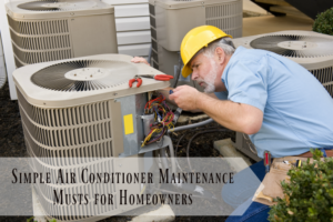 Simple Air Conditioner Maintenance Musts for Homeowners