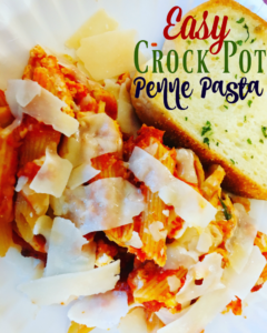 Meatless Monday: Easy Crock Pot Penne Pasta