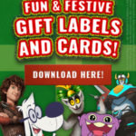 Free Downloadable Fun & Festive Gift Labels and Cards from DreamWorks