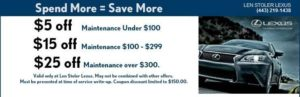 Spend More = Save More at Len Stoler Lexus