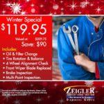 Beat the Winter Rush with These Specials at Ziegler