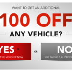 Get $100 Off Any Vehicle at Waldorf Dodge Ram