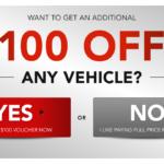 Get $100 Off Any Vehicle at Waldorf Dodge Ram